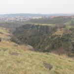 pohled z hradiště do soutěsky Džbán