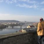 Vyšehrad, výhled na Petřín a Pražský hrad